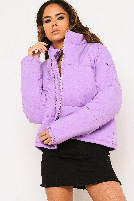 Purple Padded Puffer Coat Coats Jackets Clothing Lasula Purple Jacket Outfit Puffer Coat Winter Coats Women [ 1500 x 1000 Pixel ]