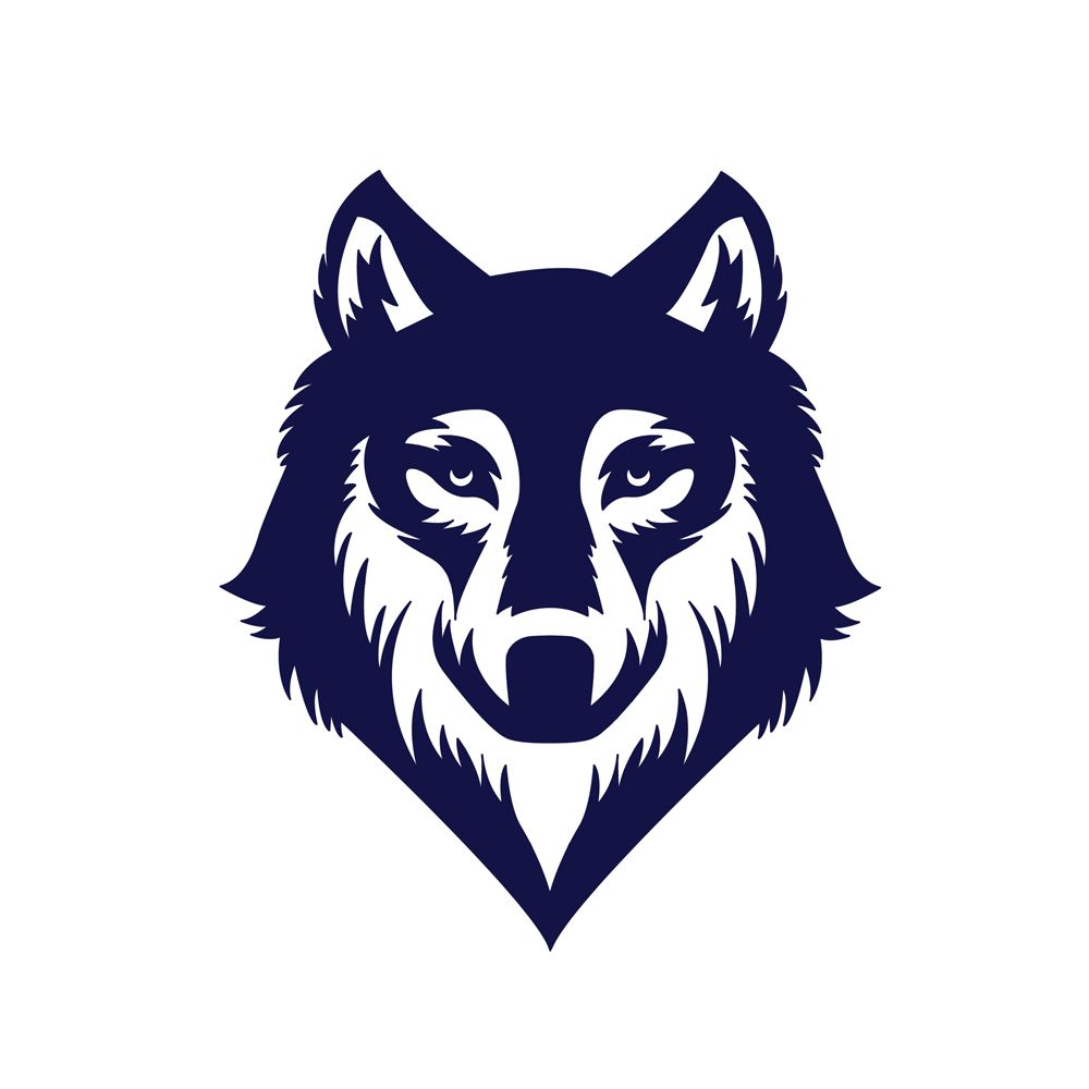 Wolf Grey Logo Tato Hewan Serigala Hewan
