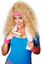 80s big hair curly blonde wig hairspray halloween costume accessory adult women - Halloween Costumes With Blonde Wig