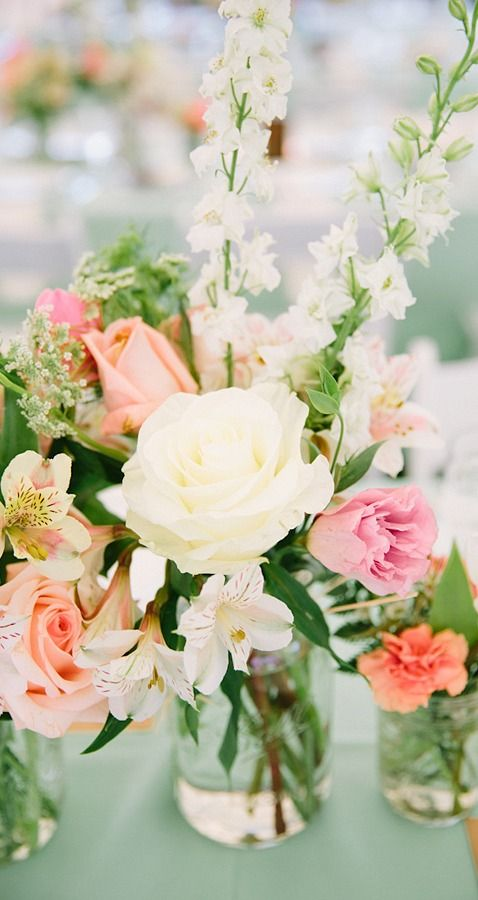 Lovely Centerpiece March Wedding