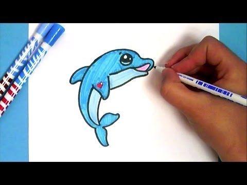 Comment Dessiner Un Dauphin Kawaii Youtube рисование Pinterest