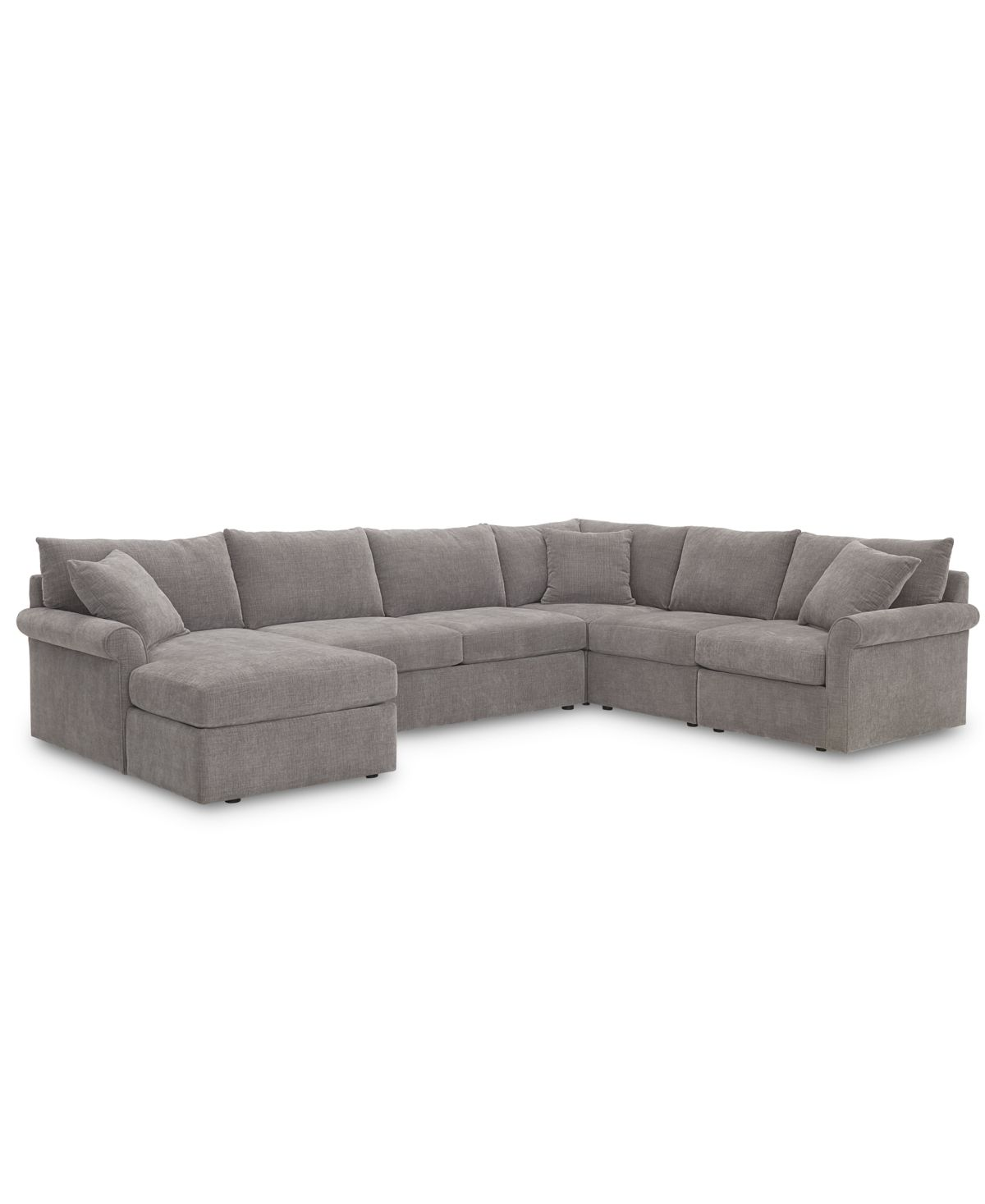 Best Wedport 5 Pc Fabric Modular Chaise Sectional Sofa With 400 x 300