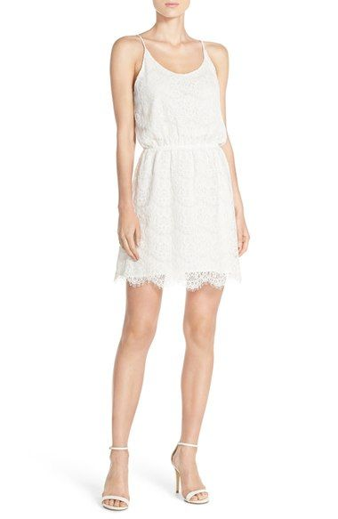 Free shipping and returns on Charles Henry Lace Blouson Dress at Nordstrom.com. Eyelash fringe adds extra delicacy to the scalloped lace of this billowy slipdress.