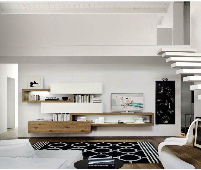 Livitalia wohnwand c25 schweben tv board und designer for Tv wohnwand modern