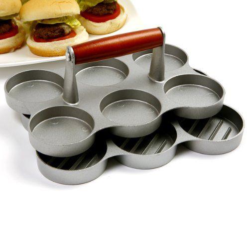 Amazon.com: Norpro Mini Burger Press: Slider Hamburger Press: Kitchen & Dining