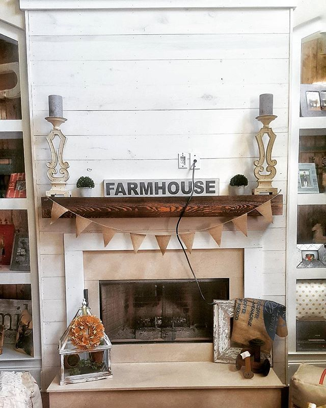 Jill On Instagram Who Has The Best Hubby In The Entire World This Girl So I Came Ho Farmhouse Fireplace White Shiplap Wall Freestanding Fireplace