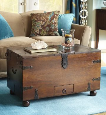 Ridgeway Trunk With Wine Storage I Love Wood Trunk And Rustic Living Rooms