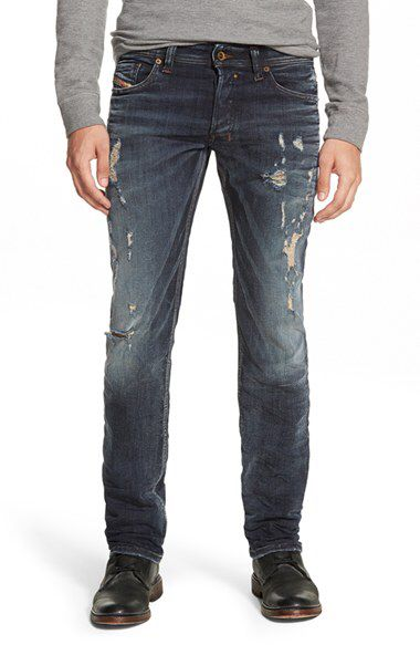 ccac433a0 DIESEL® DIESEL® 'Safado' Distressed Slim Fit Jeans (0844T) available ...