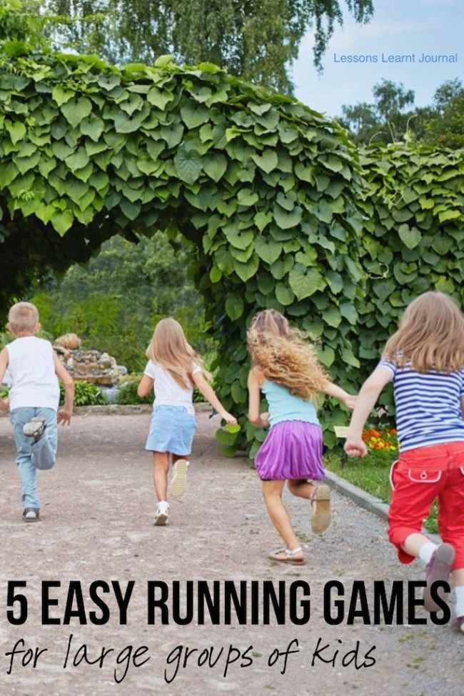 Top 5 easy to play kids running games, for large groups ~ via Lessons Learnt Journal