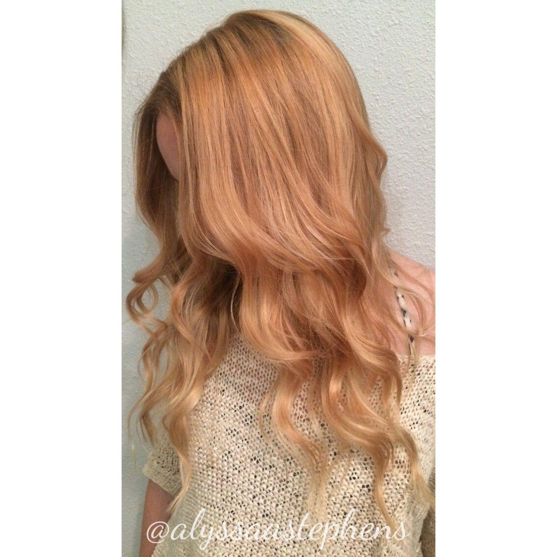 Strawberry Blonde Using Wella Illumina Balayage Hairpainting