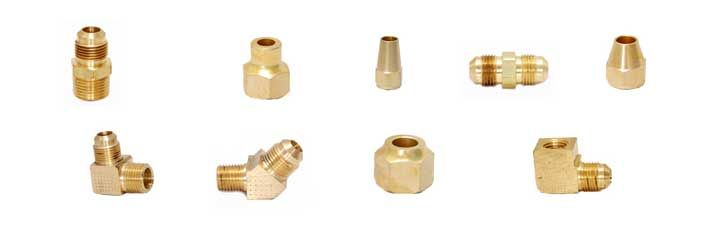 Long Flare Nut Machined Sort Flare Nut Machined Flare Nut Long Neck Connector Tube To Mpt Union Tube To Tube Ends Flare Brass Fasteners Flares Brass