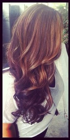Image result for brown hair with red and caramel ...
