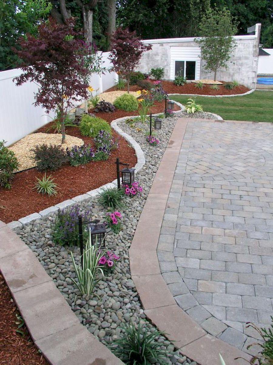 Gorgeous Front Yard Garden Landscaping Ideas (65) #outdoordiyyard | Low water landscaping, Backyard landscaping designs, Front yard landscaping
