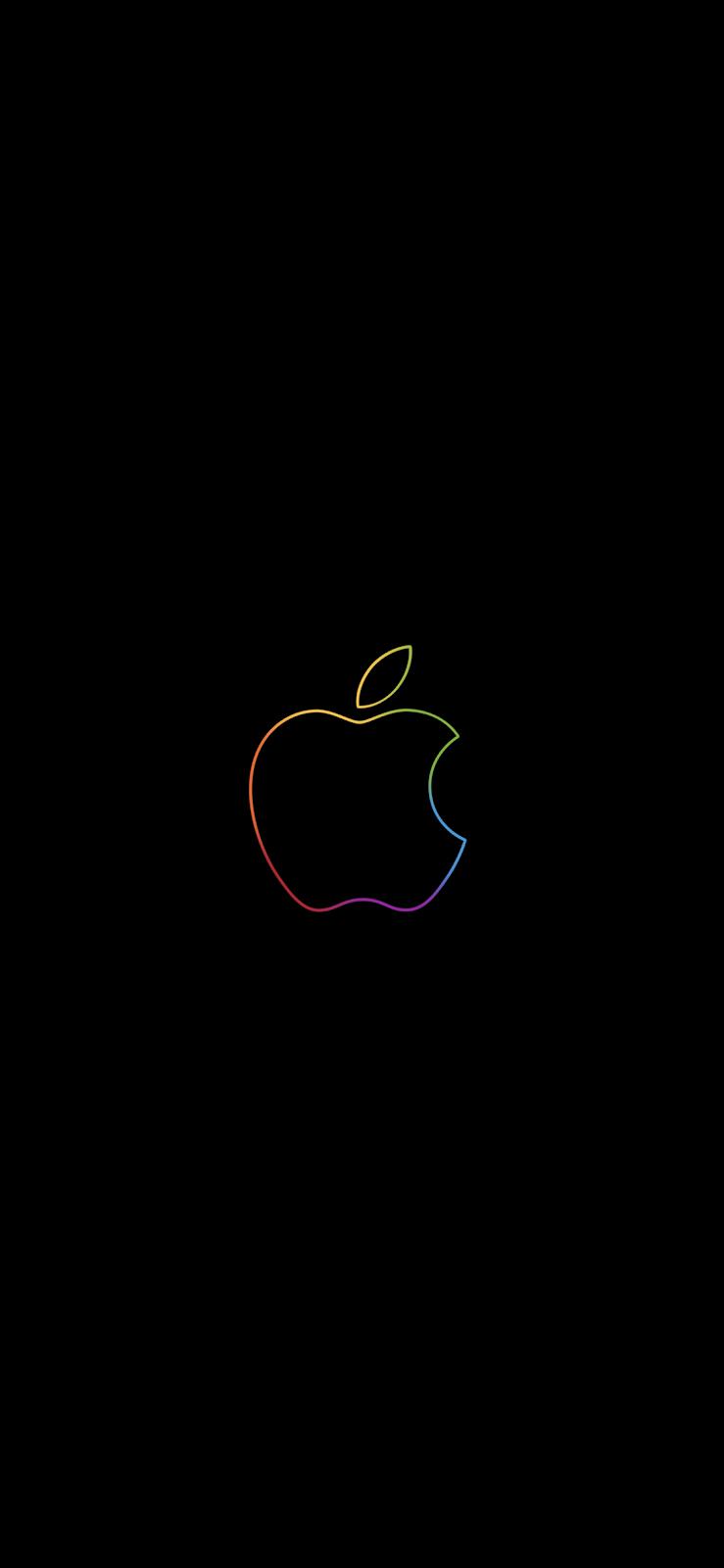 We Ll Be Right Back Apple Logo Wallpaper Iphone All Version Di 2020 Apple Logo Lukisan Galaksi Objek Gambar