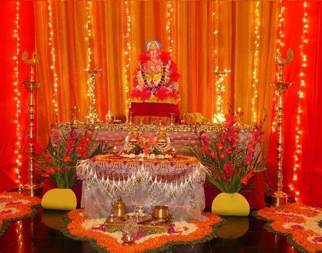 Ganpati Mandap Decoration Ideas At Home