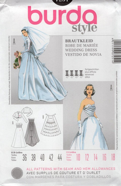 Burda 7251 Sewing Pattern Free Us Ship Vintage Retro 1950s