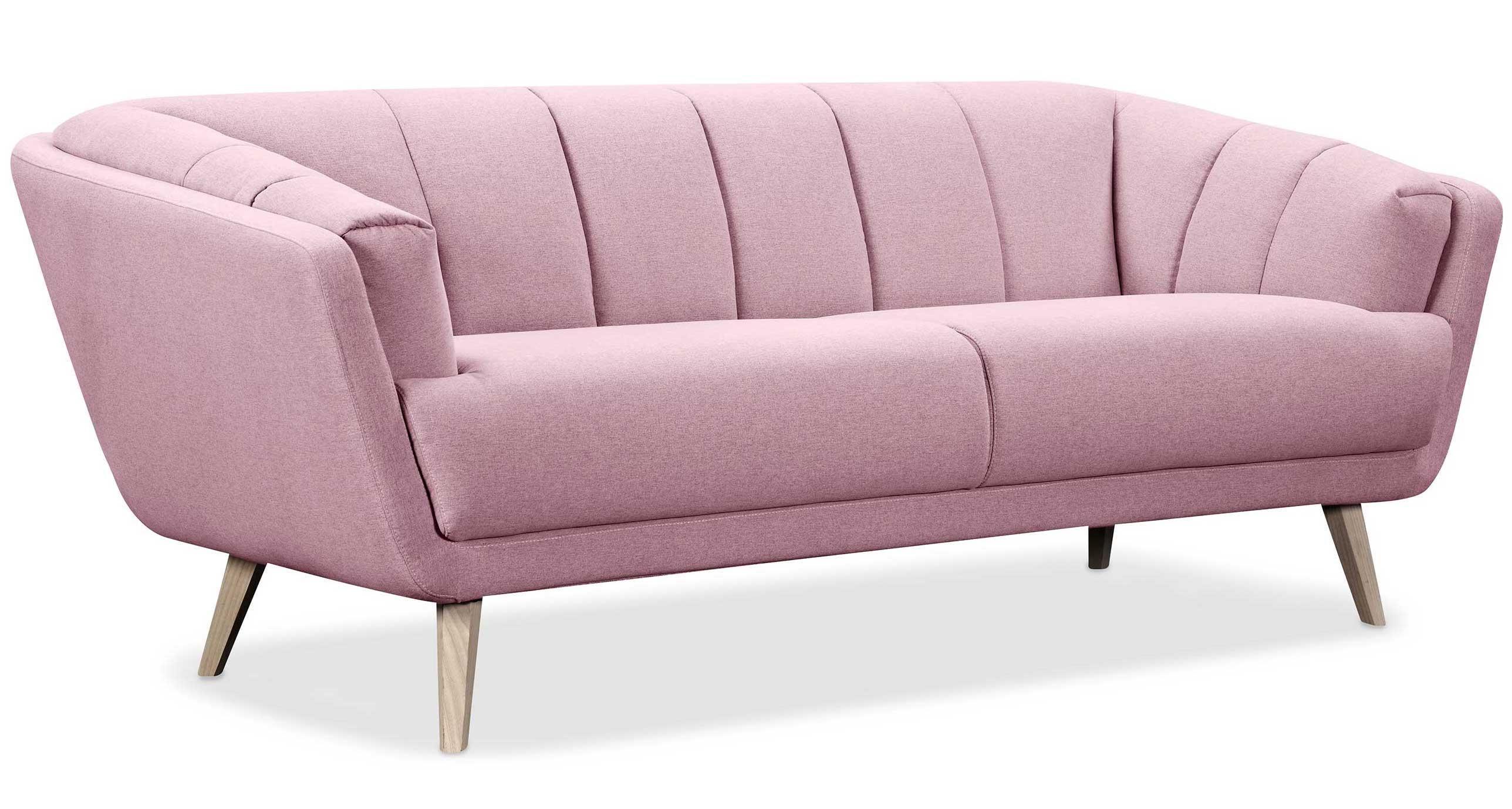une ambiance scandinave votre salon avec ce canap nordique rose clair 3 places de la - Canape Nordique