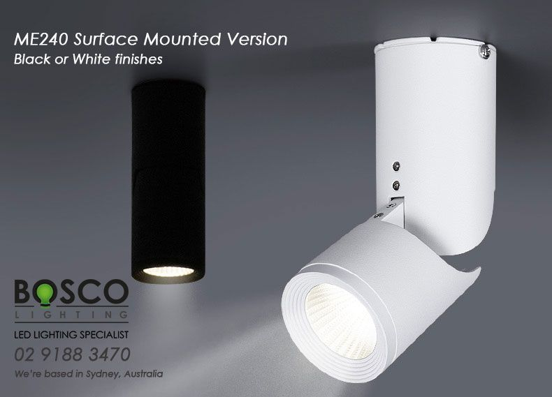 Boscolighting Me240 Is A Very Versatile Surface Mounted Downlight Innovated From Our Track Light Design Gre Surface Mount Lighting Track Spotlights Downlights