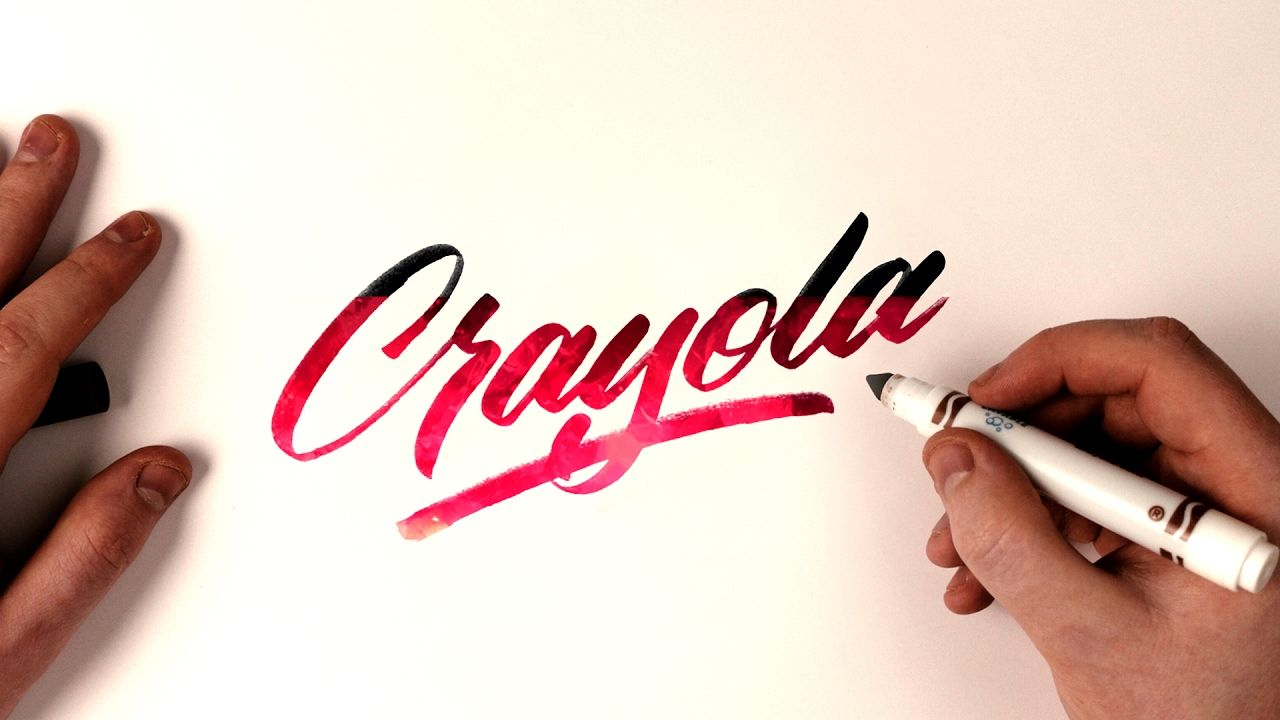 Hand lettering tutorial crayola marker brush calligraphy