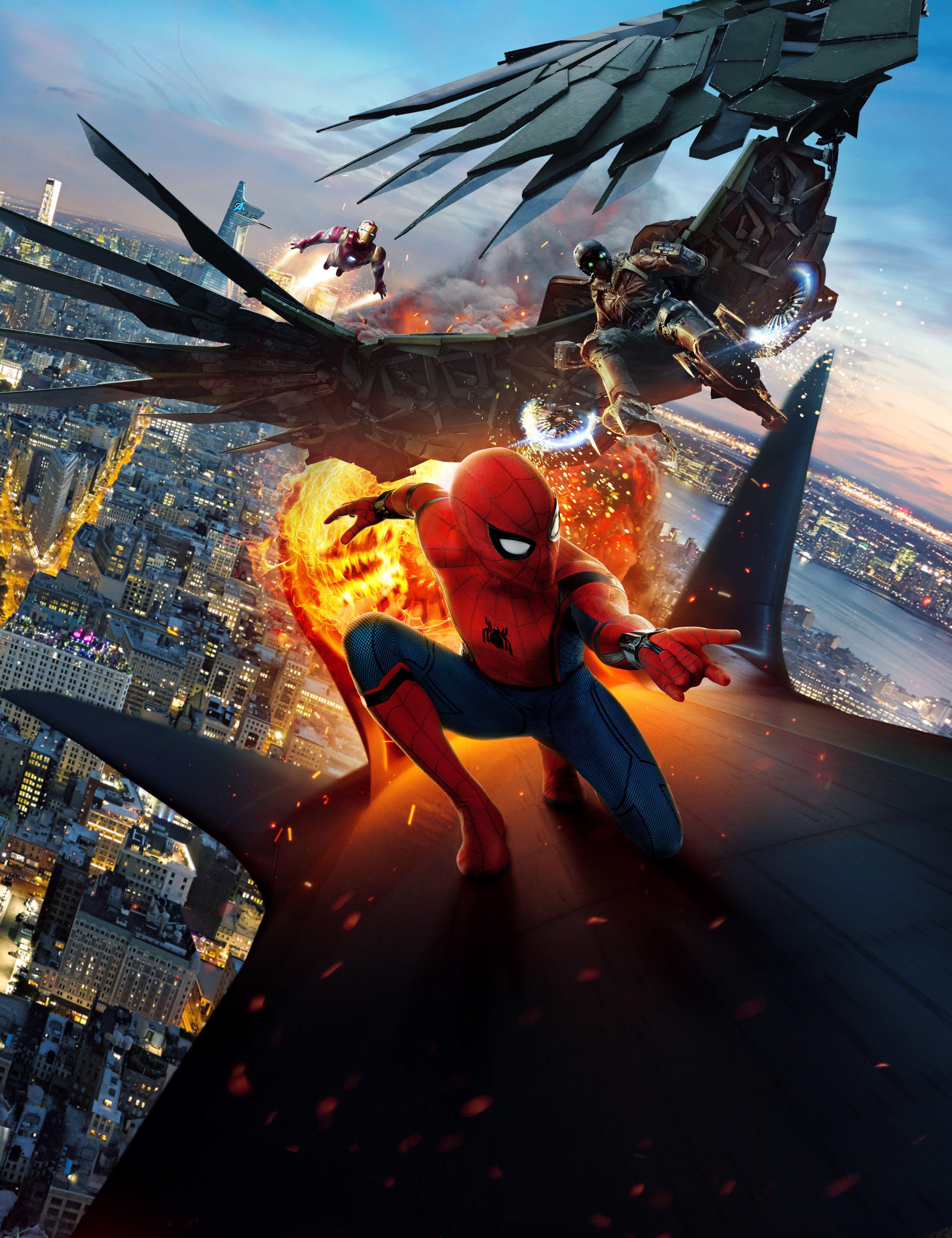 4k Spider Man Homecoming Iron Man Vulture 4k Wallpaper Hdwallpaper Desktop In 2020 Spiderman Images Man Wallpaper Spiderman Pictures