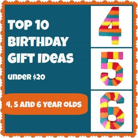 Birthday Party Gifts For 4 5 6 Year Olds All Under 20