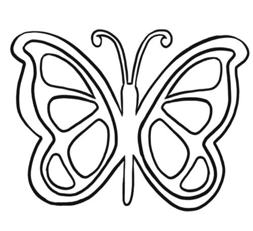 simple butterfly coloring pages - Butterfly Coloring Pages Kids