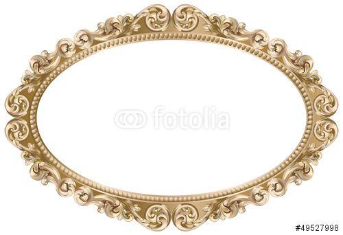 cadre baroque ovale dore fichier