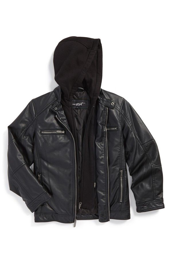 Black leather jacket for toddlers | Top leather 10 : Leather kids ...