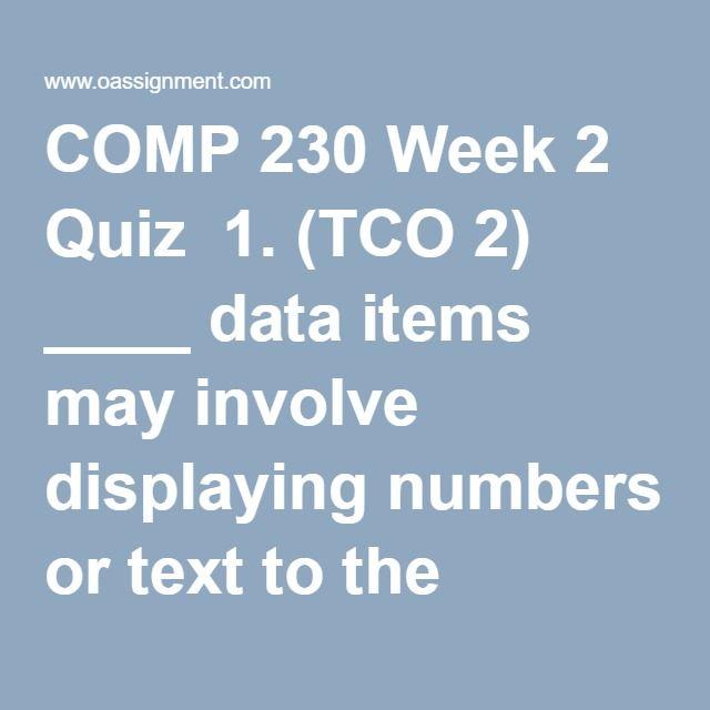 comp 230 week 3 ilab