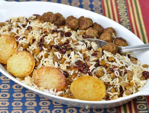 Adas Polo persiskt ris med köttbullar