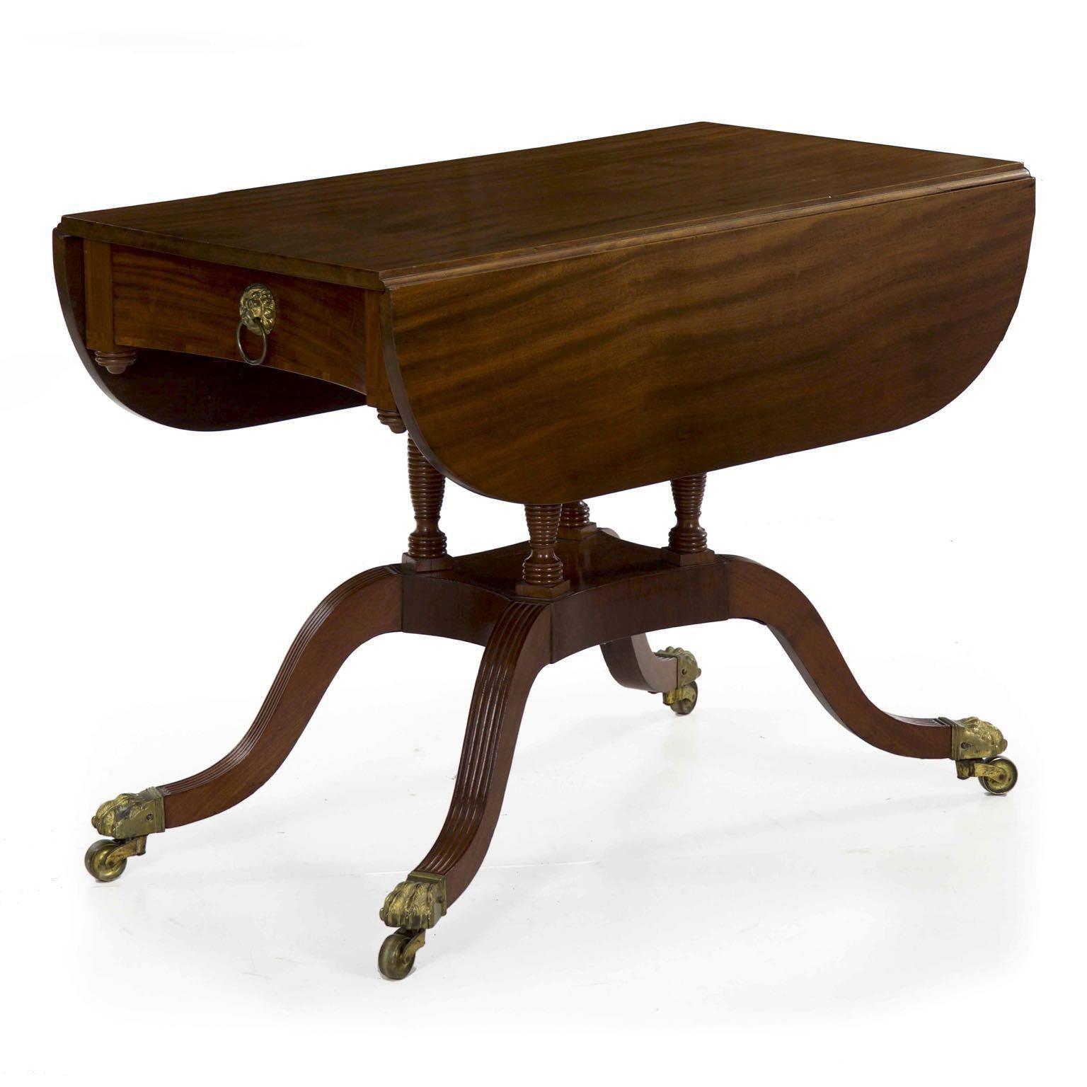 Circa 1815 American Classical Mahogany Breakfast Table Mahogany