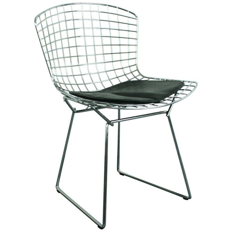Vintage Mid Century Side Chair Designed By Harry Bertoia For Knoll 1 Bertoia Side Chair Side Chairs Dining Chairs