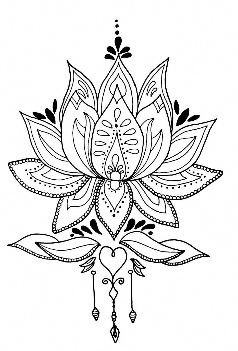 Flower Mandala Tattoo Outline