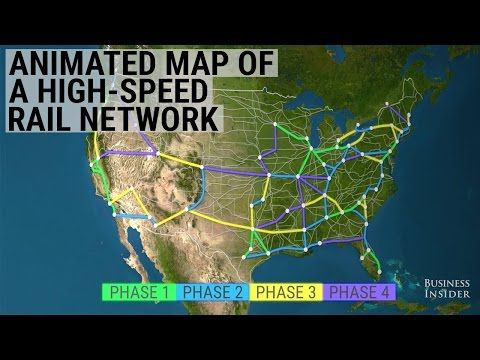Business Insider This animated map shows how radically a high-speed