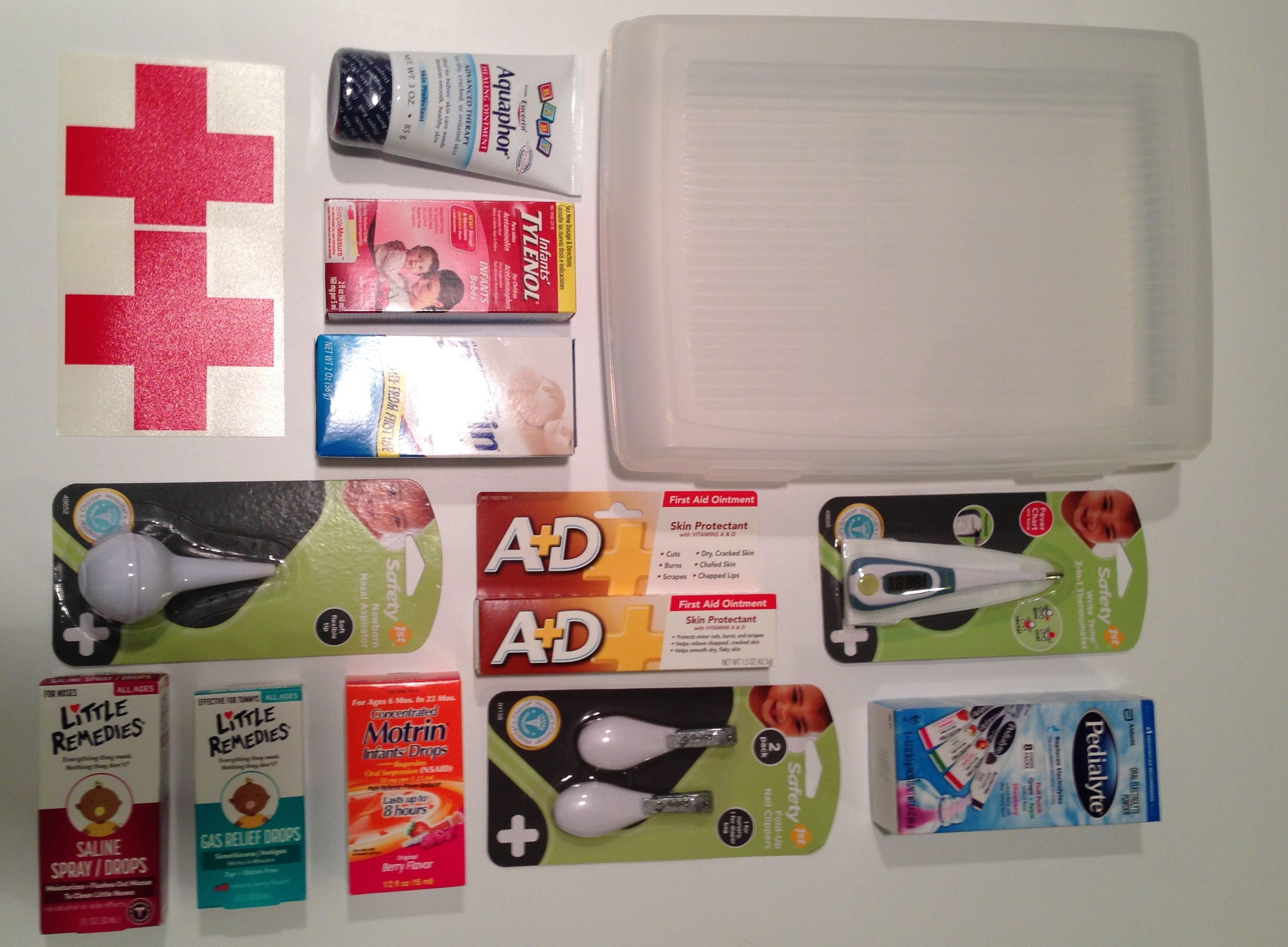 DIY Baby Shower Gifts ingre nts to make a New Baby First Aid
