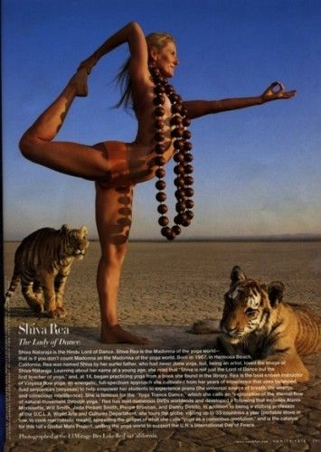 Shiva Rea Nataraja pose.