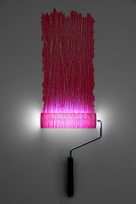 paint roller lamp by natalie sampson l clairage mural. Black Bedroom Furniture Sets. Home Design Ideas