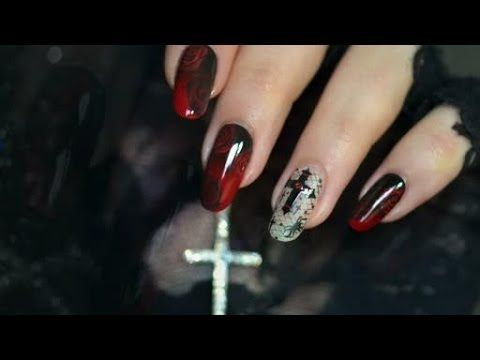Halloween Nail Art Chic Glam Youtube Nails Pinterest