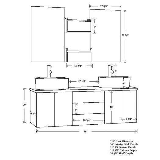 Cambridge Plumbing Moonstone 59 Double Bathroom Vanity Set Bathroom Vanity Sizes Bathroom Dimensions Double Vanity Bathroom