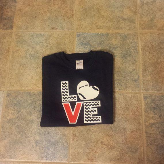 Football Jersey Tshirt by ElleQDesigns on Etsy, $20.00