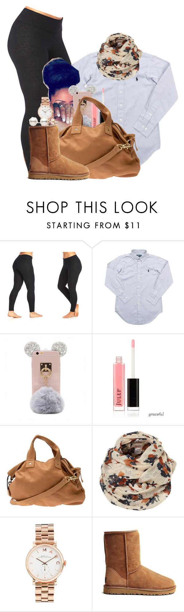 """""""Coffee+Art"""" by melaninprincess-16 ❤ liked on Polyvore featuring Marika, Ralph Lauren, Clare V., Marc by Marc Jacobs and UGG Australia"""