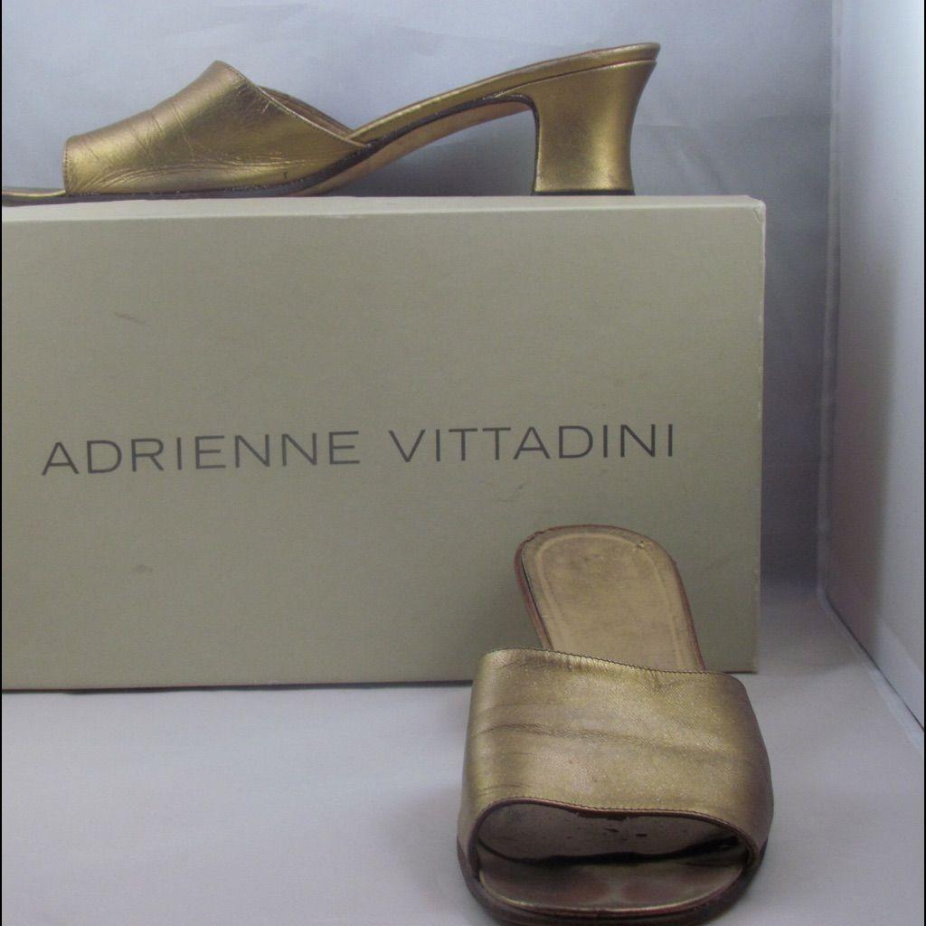 43a852b57c6b Vintage Adrienne Vittadini Bronze Slides