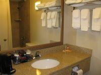 Guest Bathrooms At Econo Lodge Darien Lakes Hotel Corfu Ny Across From The Pilot