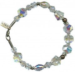 Clear crystal bracelet from the Owen Glass Collection.