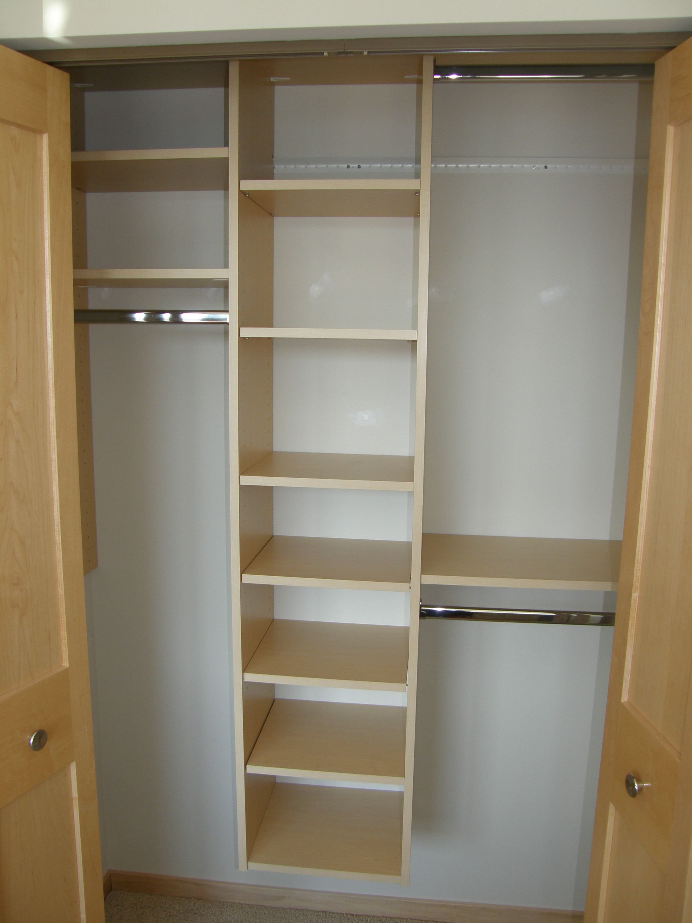 Delicieux Reach In Closet Organization   Incorporate Adustable Shelving Into Your Custom  Closet Organization Design. Adjustable Shelves Make It Easy To Change Up  Your ...