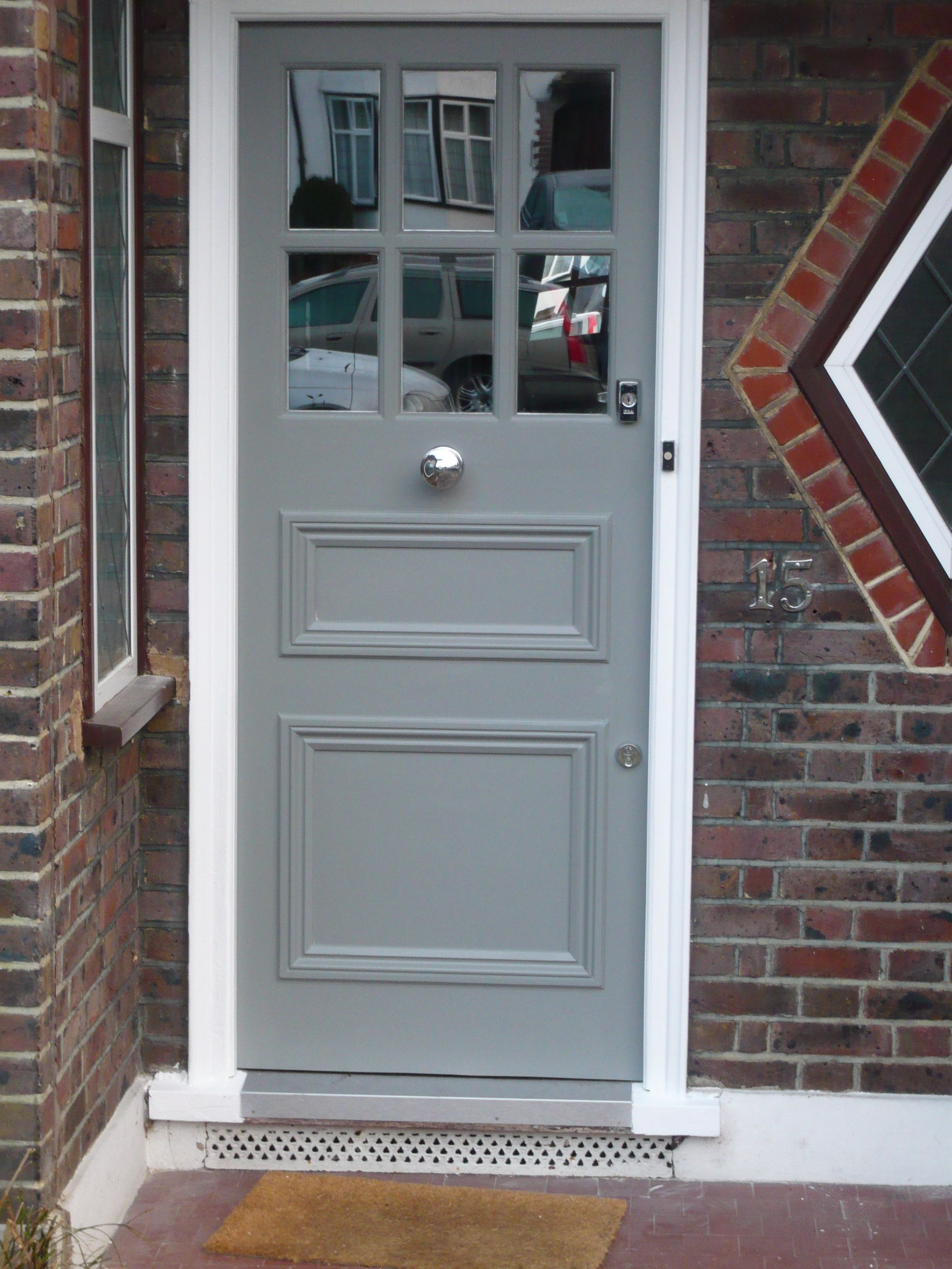 My New Front Door Hand Crafted Locally And Painted In F B Plummet Cottage Doors