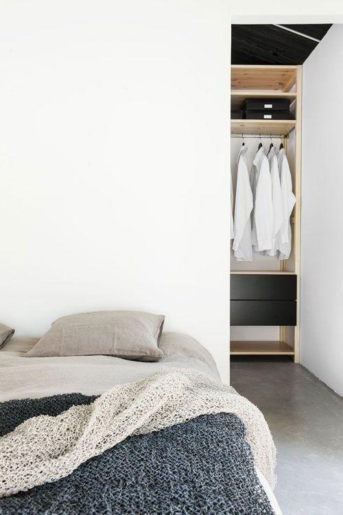 Slaapkamer met inloopkast | Slaapkamer inspiratie | Pinterest