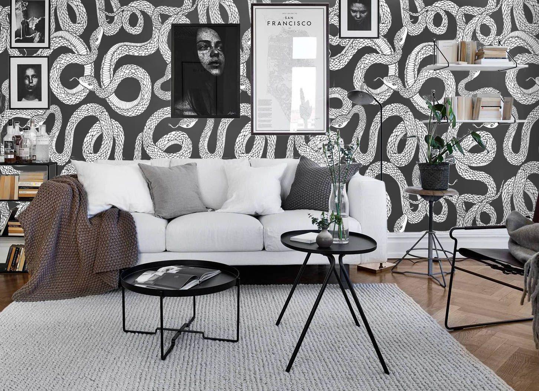 Textured Wallpaper Ouroboros Print Black And White Wallpaper Snake Wallpaper Animal Wallpaper In 2021 Snake Wallpaper White Wallpaper Black And White Wallpaper
