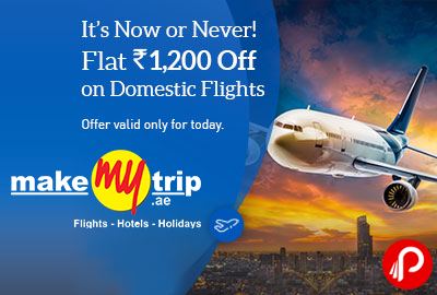Flat Rs1200 off on Domestic Flights Cheapest airline