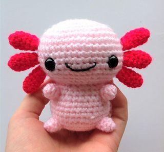 Axolotl Amigurumi pattern by Bethany Sky